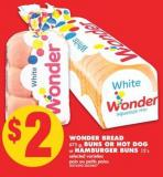 Wonder Bread 675 G - Buns Or Hot Dog Or Hamburger Buns 12's