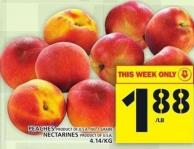 Peaches Or Grade Nectarines