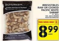 Irresistibles Raw Or Cooked Pacific White Shrimp