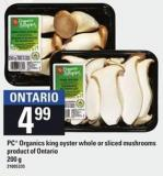 PC Organics King Oyster Whole Or Sliced Mushrooms - 200 g