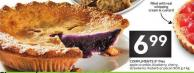 Compliments 9in Pies Apple Crumble - Blueberry - Cherry - Strawberry Rhubarb or Pecan 900 G-1 Kg
