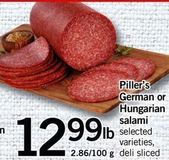 Piller's German Or Hungarian Salami