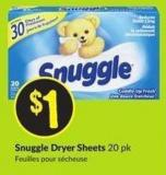 Snuggle Dryer Sheets 20 Pk