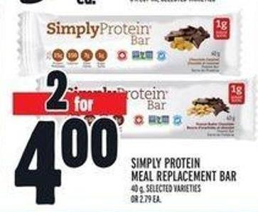 Simply Protein Meal Replacement Bar