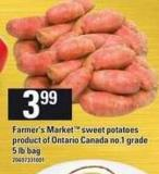 Farmer's Market Sweet Potatoes - 5 Lb Bag