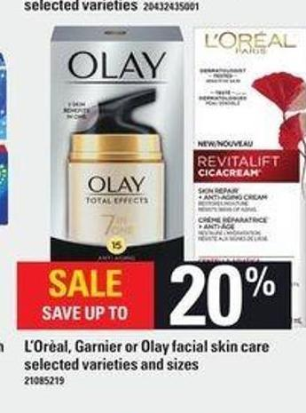 L'oréal - Garnier Or Olay Facial Skin Care