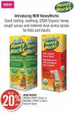 Honeyworks Throat Spray (30ml) or Organic Syrup (118ml)