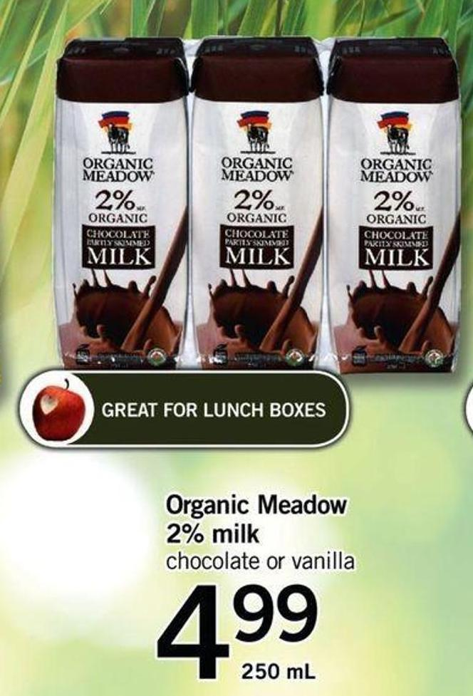 Organic Meadow 2% Milk - 250 Ml