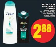 Dove or Axe Hair Care or Styling - 98-473 Ml/142-198 g