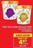 Halo Top Frozen Dessert Tubs