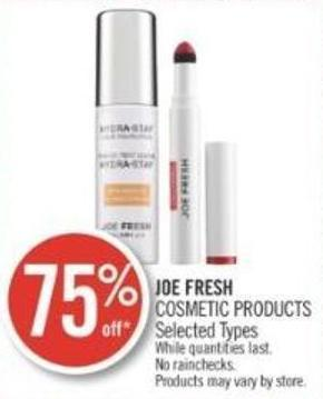 Joe Fresh Cosmetic Products