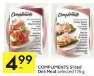 Compliments Sliced Deli Meat Selected 175 g