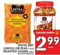 Divya Dry Lentils Or Peas Or Roasted Chana