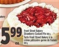 Front Street Bakery Strawberry Custard Pie