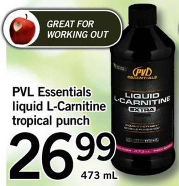 Pvl Essentials Liquid L-carnitine Tropical Punch - 473 Ml