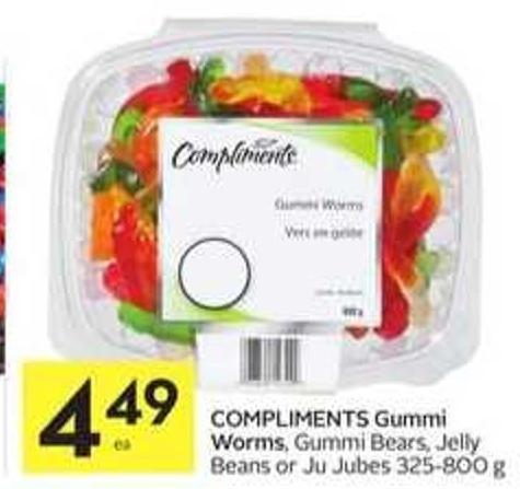Compliments Gummi Worms