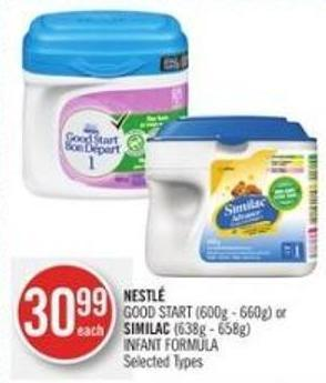 Nestlé Good Start (600g - 660g) or Similac (638g - 658g) Infant Formula