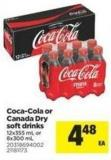 Coca-cola Or Canada Dry Soft Drinks - 12x355 mL or 8x300 mL
