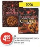 PC The Decadent Chocolate Chip or Chunk Cookies 500g