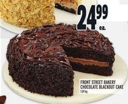 Front Street Bakery Chocolate Blackout Cake