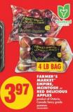 Farmer's Market Empire - Mcintosh or Red Delicious Apples - 4 Lb Bag