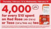 Red Rose (48-216's) Or Tazo (24's/946 Ml) Tea