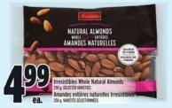 Irresistibles Whole Natural Almonds