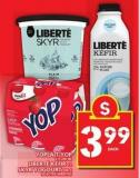 Yoplait Yop or Skyr Yogourt