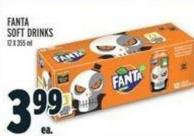 Fanta Soft Drinks 12 X 355 ml