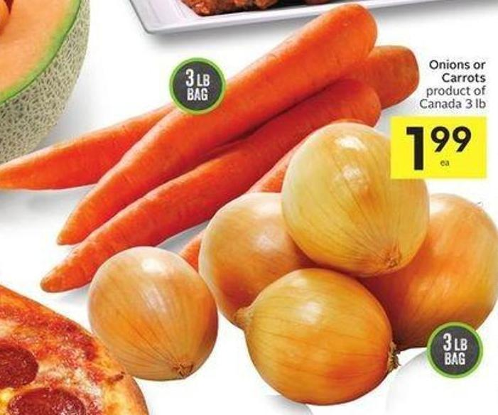 Onions or Carrots Product of Canada 3 Lb
