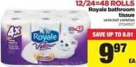 Royale Bathroom Tissue - 12/24=48 Rolls