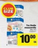 Tre Stelle Mozzarella - Pkg Of 3