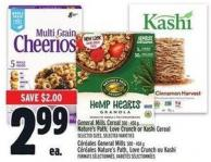General Mills Cereal 300 - 450 g Nature's Path - Love Crunch Or Kashi Cereal