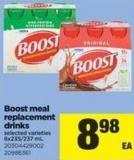 Boost Meal Replacement Drinks - 6x235/237 mL