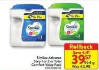 Similac Advance Step 1 or 2 or Total Comfort Value Pack 964 g