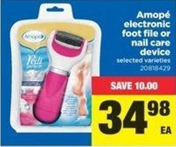 Amopé Electronic Foot File Or Nail Care Device