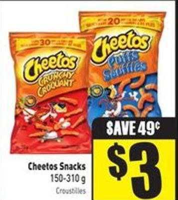 Cheetos Snacks 150-310 g