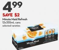 Minute Maid Refresh  12x355ml Cans