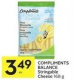 Compliments Balance Stringable Cheese 168 g