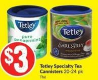 Tetley Specialty Tea Cannisters 20-24 Pk