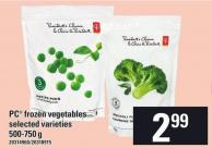 PC Frozen Vegetables 500-750 G