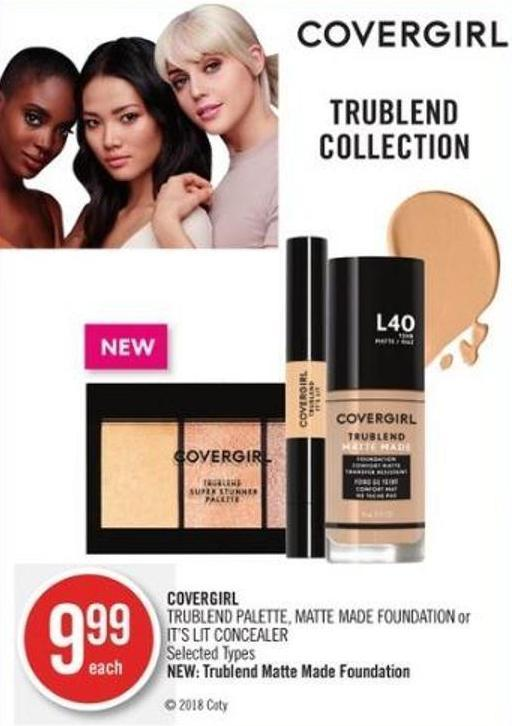 Covergirl Trublend Palette - Matte Made Foundation or It's Lit Concealer