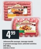 Johnsonville Sausage - Sausage Rounds Or Ground Sausage Meat - 250-500 g