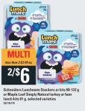 Schneiders Lunchmate Stackers or Kits - 90-132 g or Maple Leaf Simply Natural Turkey or Ham Lunch Kits - 81 g