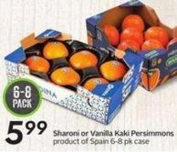 Sharoni or Vanilla Kaki Persimmons