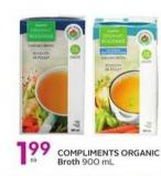 Compliments Organic Broth