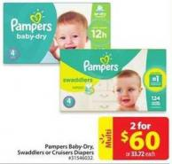 Pampers Baby-dry - Swaddlers or Cruisers Diapers