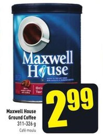 Maxwell House Ground Coffee 311-326 g