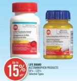 Life Brand Acetaminophen Products 50's - 120's