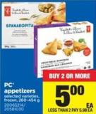 PC Appetizers - 260-454 g